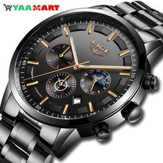 Amazing Luxury Business Waterproof Watch for Men #watch #businesswatch #waterproofwatch