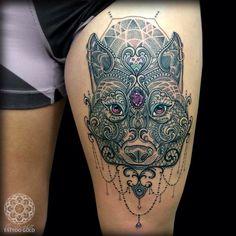 Wolf Tattoo by Coen Mitchell