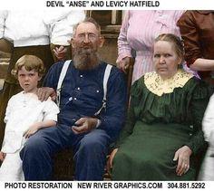 Devil Anse andLevicy Hatfield West Va, My Family History, Nancy Mccoy, Johnse Hatfield, Ancestry, Strange History, History Facts, Historical Photos, Hatfield And Mccoy Feud