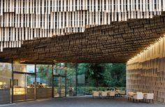 Daiwa Ubiquitous Research Building von Kengo Kuma, Tokyo