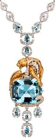 Magerit aquamarine Instinto drop necklace