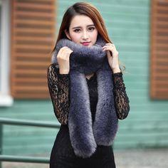 2016 Fashion Autumn and Winter Women Long Fur Scarf Faux Fur Shawl Elegant Ladies Pashmina Plush Scarves