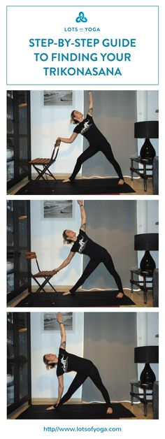 Step-by-step guide in finding your triangle pose.