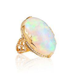 Goshwara Opal and Diamond Ring