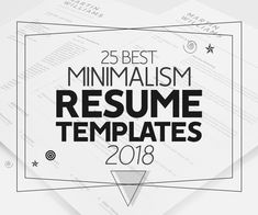 Best Minimalism Resume Templates 2018 One Page Resume Template, Modern Resume Template, Creative Resume Templates, Resume Writing Tips, Cover Letter For Resume, Minimalism, Weigh Loss, Yearly Calendar, Calendar Design