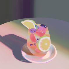 Pretty Art, Cute Art, Aesthetic Art, Aesthetic Anime, Food Illustrations, Illustration Art, Food Drawing, Animes Wallpapers, Food Art