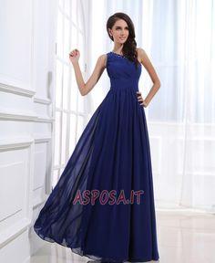 Beaded Chiffon One Shoulder Ankle Length Dress. Asposa · Abiti da sera 0f6e3bb0e63