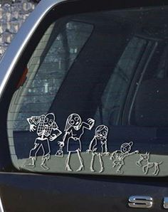 Zombie Family Sticker Decal Kitz Pcs Amazoncom Automotive - Family decal stickers for carsamazoncom stick family stick family car window wall laptop decal