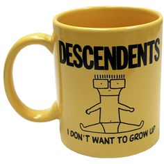 Inked Boutique - I Don't Want To Grow Up Mug  Descendents I Don't Want To Grow Up Mug www.inkedboutique.com