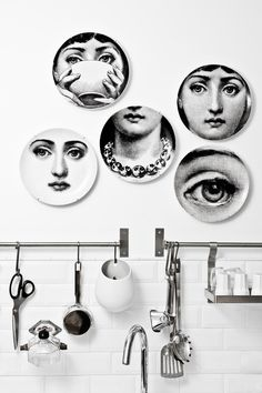 quirky plates as wall art