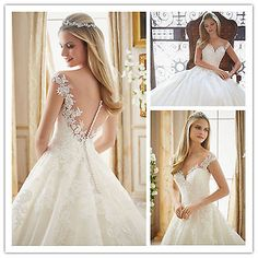 High quality sexy white/ivory Wedding dress Bridal Gown custom sz free shipping