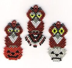 Hootie Times Three Halloween Earrings/Charms Bead Pattern at Sova-Enterprises.com
