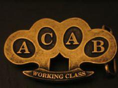 HEBILLA ACAB PUÑO AMERICANO - Working Class. 12,90 euros. Pedidos (Orders): www.barrio-obrero.com (We send orders to all countries)  PUNK & SKINHEAD MAILORDER.