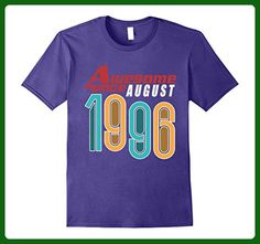 Mens Awesome Since August 1996 T-Shirt 21st Birthday XL Purple - Birthday shirts (*Amazon Partner-Link)