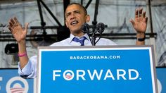 #159 Oct. 17-Obama Mocks Romney in Iowa Over 'Binders'; President Barack Obama speaks at a campaign event at Cornell College, Oct. 17, 2012, in Mt. Vernon, Iowa.