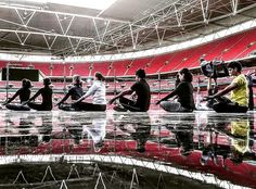 Don't get to practise here everyday   But I'm sure when I dreamed of performing at Wembley as a kid it was for a Freddy Mercury radio-gaga  sort of momentor scoring the winning goal in the cup final  Next best thing a yoga/ acroyoga demo.. 70K views in one go!!  Thanks to the awesome team who made this magic happen . . #londonyoga #ukyoga #magicmoments