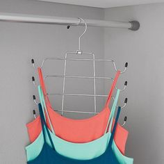 Shop for Mainstays Storage & Organization in Home. Buy products such as Mainstays Skirt & Pant Organizer at Walmart and save. Hanging Clothes Organizer, Clothes Hanger, Bra Hanger, Master Closet, Closet Bedroom, Closet Space, Organizar Closet, Closet Hacks, Clothing Hacks