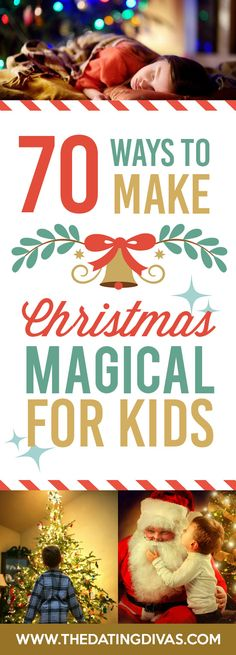 Love this list! I am always looking for ways to celebrate the season with my family! # christmas family activities 70 Ways to Make Christmas Magical - The Dating Divas Magical Christmas, Noel Christmas, Christmas Projects, Winter Christmas, Christmas Movies, Christmas Decorations With Kids, Christmas Ideas For Kids, Holiday Ideas, Holiday Gifts