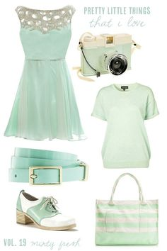 Super cute mint coloured dress with sequined neckline.