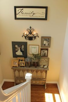 top of stairs decorating ideas - Google Search
