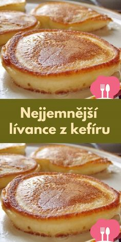 Nejjemnejší lívance z kefíru Food Platters, Food Dishes, Czech Recipes, Oven Chicken, Easy Casserole Recipes, Cooking Recipes, Healthy Recipes, Sweet Desserts, International Recipes