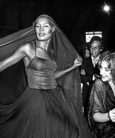Grace Jones with Jimmy Baio, Divine, Julie Budd, Nona Hendryx and a few unnamed dancers  In the '70s and '80s we all had our fun, and now and then we went really too far. But, ultimately, it required a certain amount of clear thinking, a lot of hard work and good make-up to be accepted as a freak.—Grace Jones   If a single photo series could encapsulate '70s disco dust debauchery and fun… this document of Grace Jones' 30th birthday party held at LaFarfelle Disco in New York on June 12…