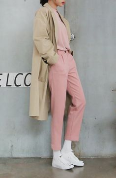 Spring trench long coat