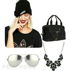 Adidas beanie  gun metal necklace lindafarrow sunglasses