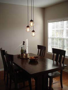 Seeded Glass Pendant CHANDELIER Light Trio - Clear Glass Lighting Fixtues - The Lamp Goods - 1