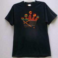 African Print T shirt Kente Crown T shirt Tribal Print by Shipella
