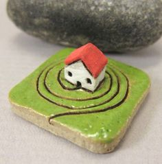 MyLand - Vegan - Collectible 3x3 cm or 1.2x1.2 in. puzzle in stoneware by elukka on Etsy https://www.etsy.com/listing/231303887/myland-vegan-collectible-3x3-cm-or-12x12