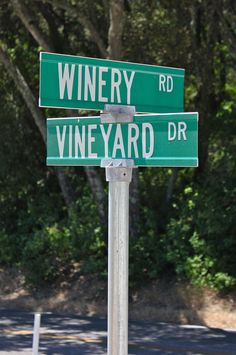 the corner of Winery and Vineyard - Turley Wine Cellars