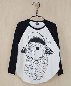 Mainio Clothing: Girls' organic bunny top