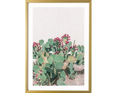 Cacti desert wall art print