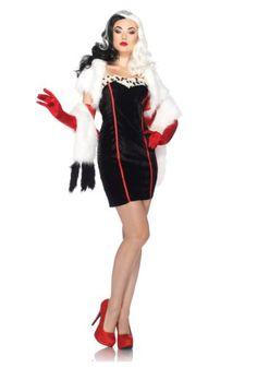 7f6882468a2 2019 Leg Avenue Disney Cruella Costume Dress Bolero Straps Furry Wrap and  more Disney Costumes for Women