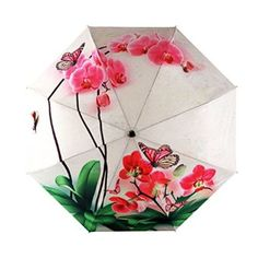Beautilful Phalaenopsis Ladies Anti Uv Sun/Rain Umbrella