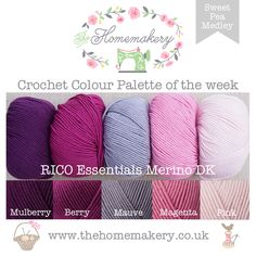 Crochet Colour Palette: Sweet Pea Medley featuring Rico Essentials Merino DK - The Homemakery Blog