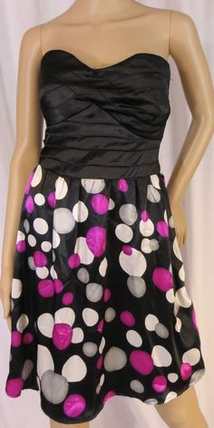 """TRIXXI"" BLACK POLKA DOT STRAPLESS DRESS - PLEASE SEE ALL PICTURES #TRIXXI"