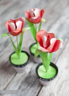 Paper Tulip Printable and Tutorial