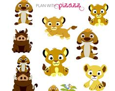 by PlanwithPizazz Lion King Party, Lion King Birthday, Baby Shower Clipart, Baby Shower Printables, Life Planner, Happy Planner, Jordan Baby Shower, Lion King Baby Shower, Baby Tigers