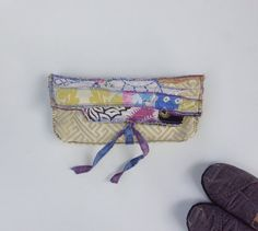 Artsy Clutch Bag Upcycled One of a Kind by itzaChicThing on Etsy