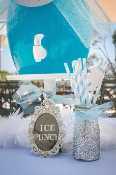 Frozen Winter Wonderland themed birthday party via Kara's Party Ideas KarasPartyIdeas.com Stationery, decor, cake, tutorials, favors, recipe...