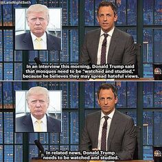 Funny Quotes About Donald Trump by Comedians and Celebrities: Seth Meyers on Studying Trump