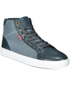 2e77c232a370 Levi s Men s Cliff Chambray Hi-Tops Men - All Men s Shoes - Macy s