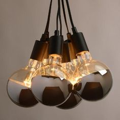 One of my favorite discoveries at WorldMarket.com: Chrome-Tip 6-Bulb Cluster Pendant Lamp