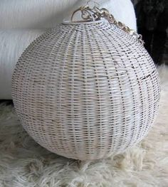 Rattan Lamp Shade - Do you want to create fresh look and feel in your room? Rattan lamp shade is for sure to give very significant lighting for home improvement. Hanging Lamp Shade, Lamp Shades, Natural Lamps, Rattan Lamp, Home Lighting, Light Decorations, Pendant Lamp, Cool Things To Make, Contemporary Style
