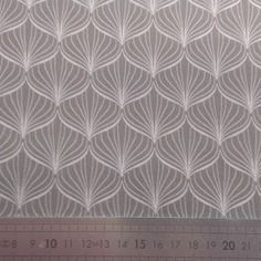 20 cm// tissu coton enduit alli grey//