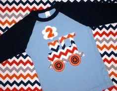 Chevron Birthday Train Toddler and Kids Baseball Shirt