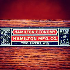 Strictly Hamilton.  #typehunter #hamiltonmfgco