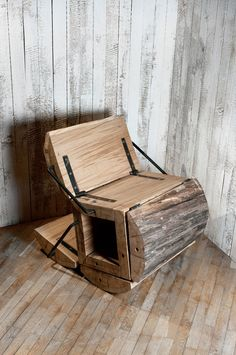 waste less log chair by architecture uncomfortable workshop This chair blows my mind. See more Low Waste and Crazy designs for your home!